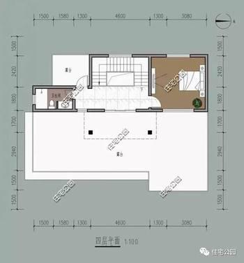 广东农村别墅三层半户型,坐西朝东,带堂屋含平面图