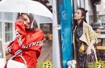 高圆圆时尚街拍,丸子头甜蜜笑容少女范十足 赵又廷真的很幸福图片