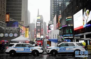 纽约时报广场汽车冲撞行人事件后加强安保图片
