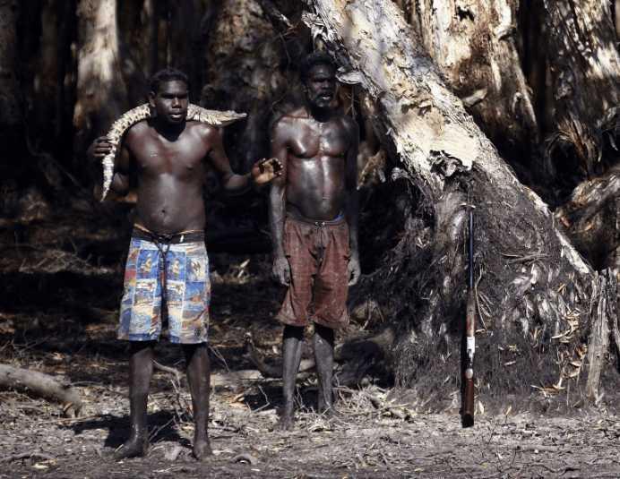 以鳄鱼蜥蜴为食的,澳大利亚的土著人