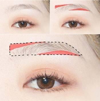 图解画眉教程,一字眉高挑眉,各种眉型技巧
