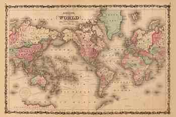 """""""墨卡托投影""""下的世界地图,非洲面积和格陵兰岛的面积一样大"""