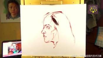 油画 美女头部侧面 教程图片
