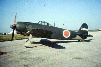"""由川西飞机公司将水上战斗机""""强风""""进行改良而成的陆"""