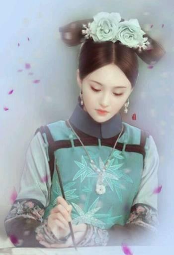 手绘画下的女星,郑爽素雅,古力娜扎如画中仙,迪丽热巴