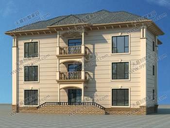 农村16.5x15米三层别墅,外形精雕细琢,布局考究实在!