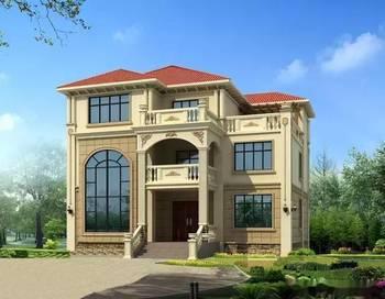 欧式风格建筑,因其华丽的装饰,浓烈的色彩,精美的造型力受农村建房者图片