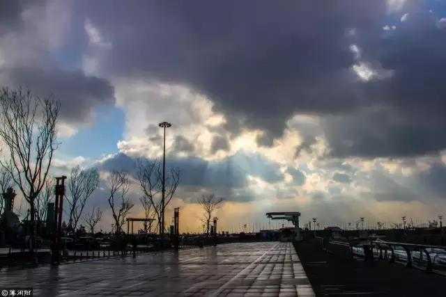冬天的青岛,气温骤降,大风肆虐,每踏出一步,都有一种壮士去兮不复返的