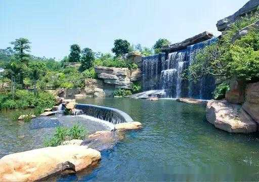 宝卢艾科:假山瀑布水景设计图片