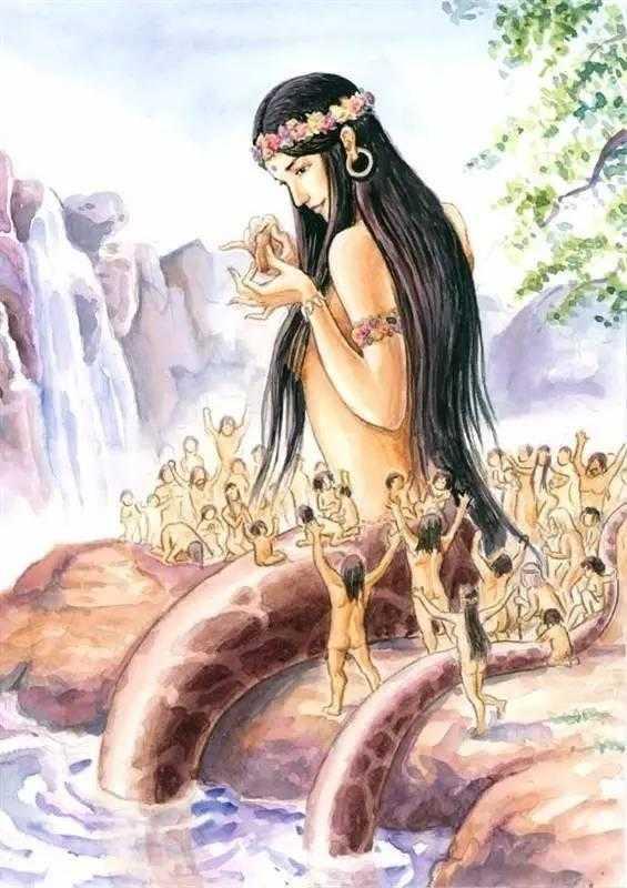 女娲,华夏民族上古神话中的大地之母和自然之神,既创造了万物,又抟土
