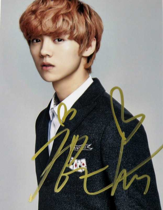 当红明星的签名大比拼,鹿晗可爱,张艺兴帅气