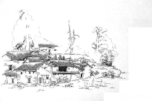 风景速写---村庄