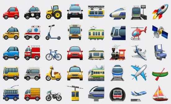 这些是ios 10.2测试版本中增加和重新设计的emoji表情图片