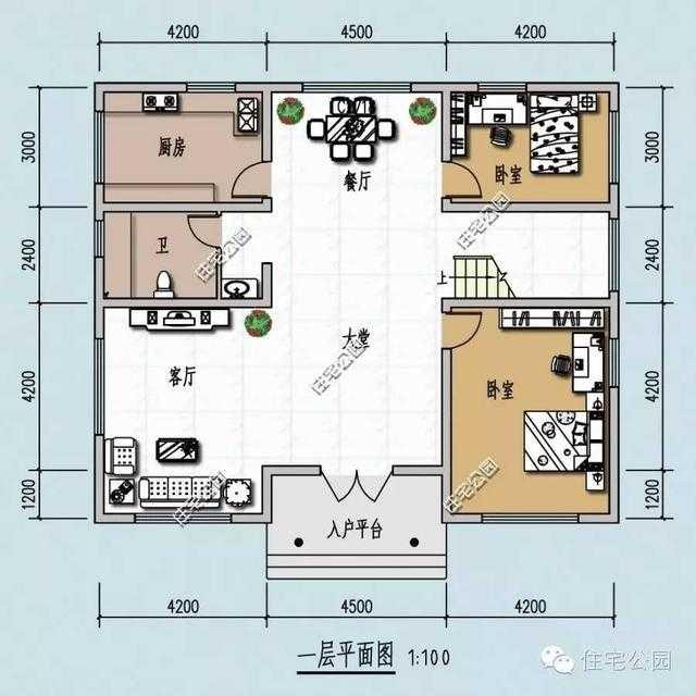 面宽12米农村建房,13款经典实用户型,辛苦打拼要建好房子!图片