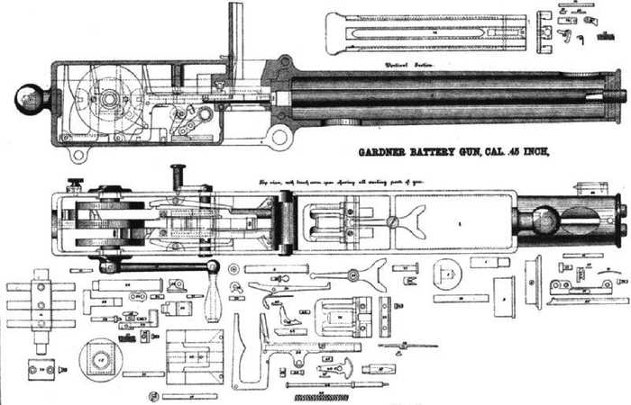 m1865诞生后,加特林依然对其进行改进,随着改进的越发深入,加特林图片