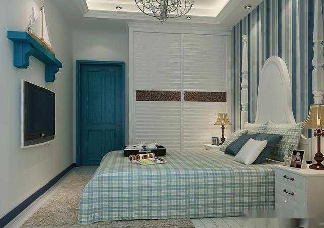 卧室淡雅墙纸效果图