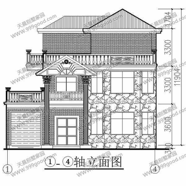 新农村三层欧式别墅设计图,11.6x12.9米平面图详解!