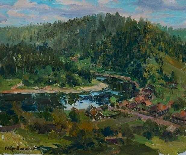 10副风景画,带你感受油画布面的透视和空间感