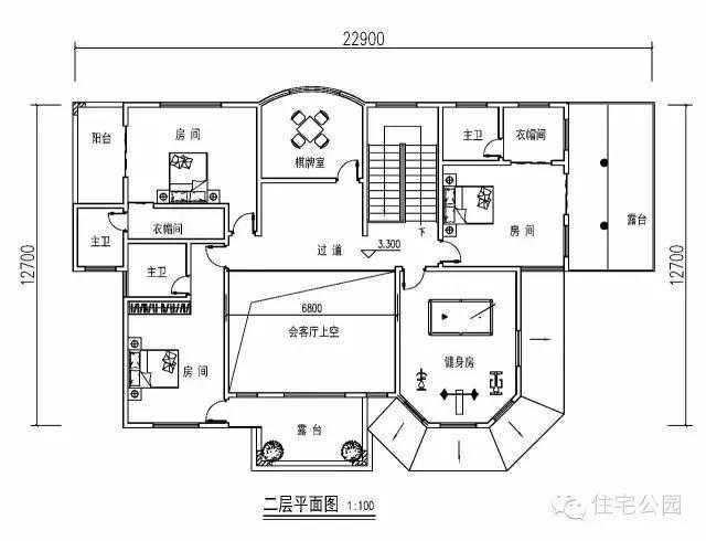 17x24.5米带堂屋神位的农村别墅,两种配色你喜欢哪个?图片