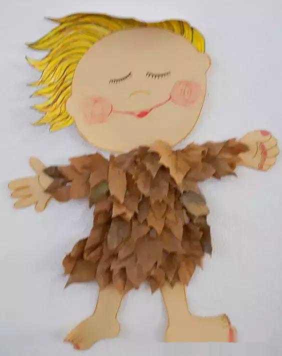 幼儿园树叶粘贴画,快来展示你的创意!图片