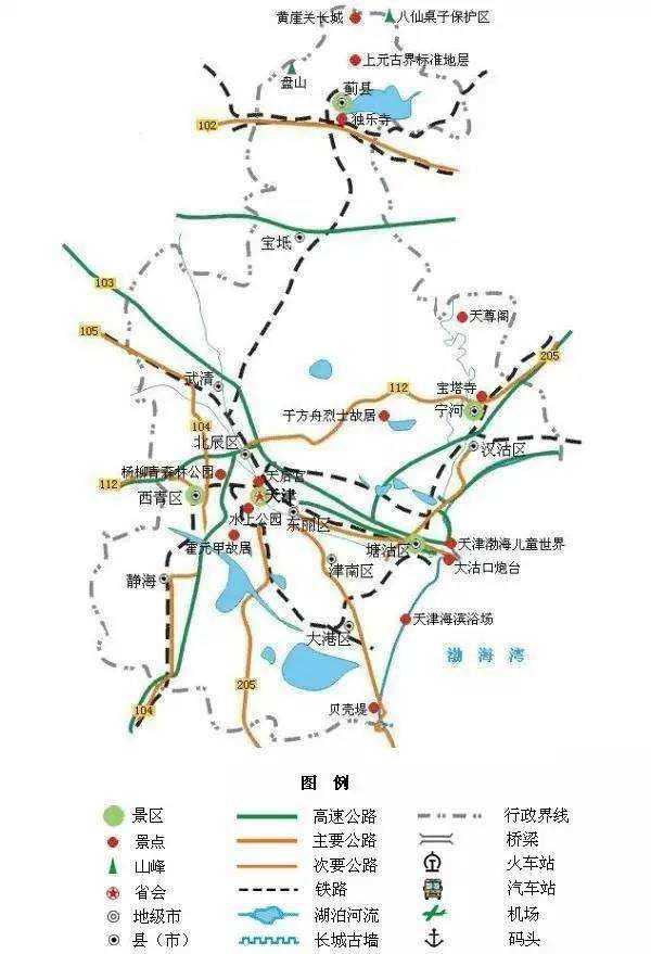 一份全国精简版的旅游地图