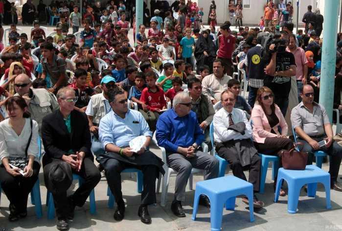 伊拉克难民营纪念世界难民日