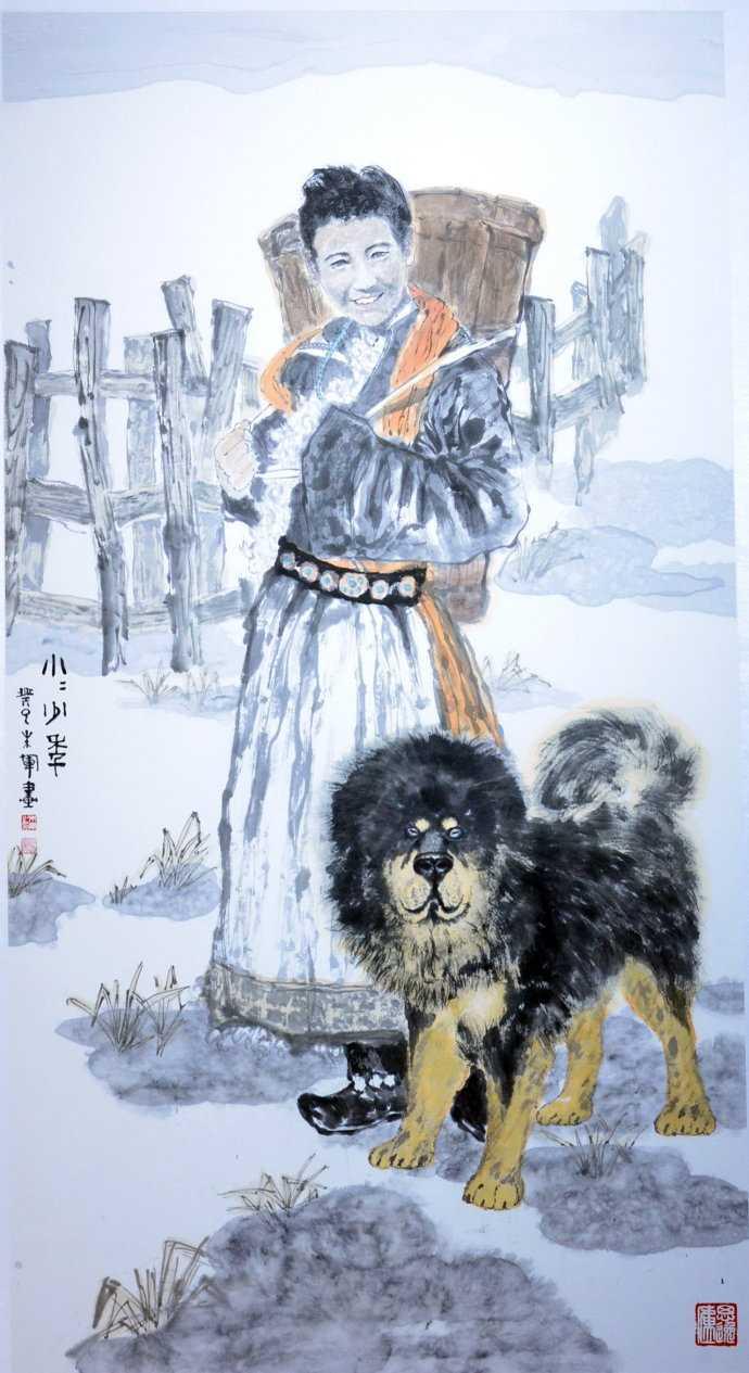 朱军国画人物罕见作品:画戏剧角色形象准确,颇有行家风范图片