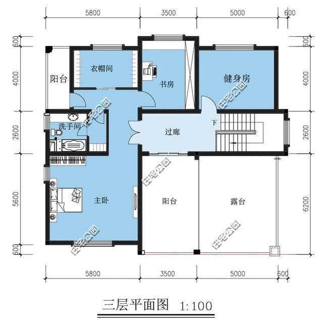 新農村別墅戶型 樓中樓旋轉樓梯露臺套間雙車庫 含平面圖圖片