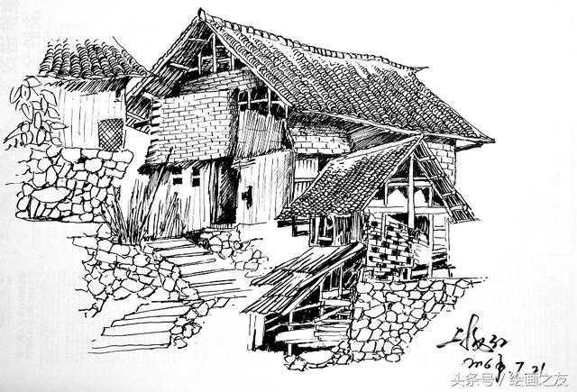风景速写-乡村