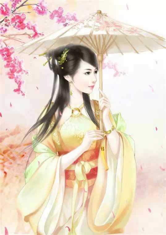 动漫人物图集:打着伞与不打伞的古风美女都是那么迷人