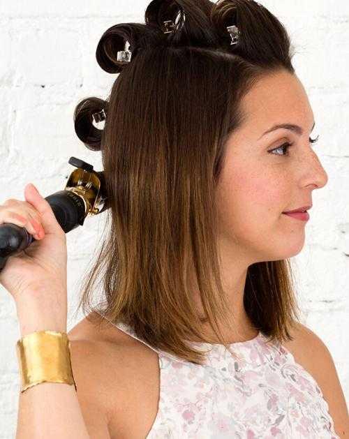 diy短发伴娘发型 短发也可以做盘发造型哦图片