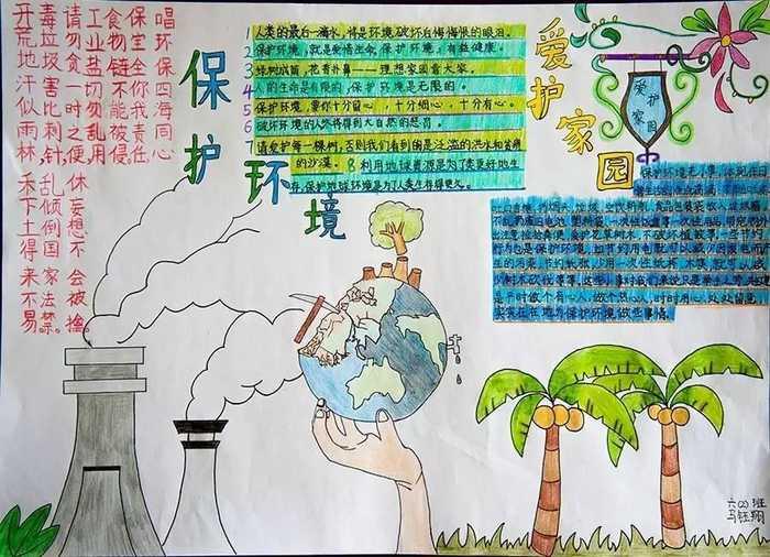 小学生环保手抄报大赛请您当评委(36-50)