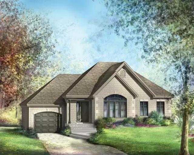 这两套一层带车库的别墅方案非常时尚大气,美式乡村田园风格,功能比较