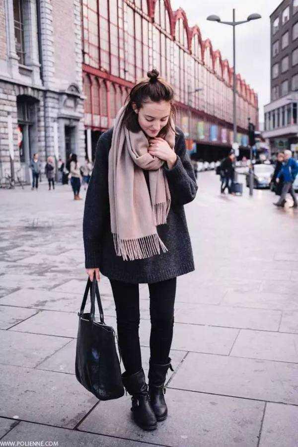 围巾+大衣的最全搭配法!