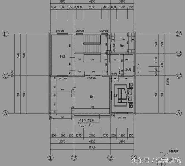 新农村实用三层自建房设计图纸,11x11米,22万左右