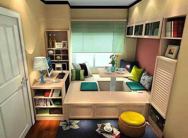 1,多功能的用途 多功能设计的榻榻米可以说是床 柜子 桌椅的集合