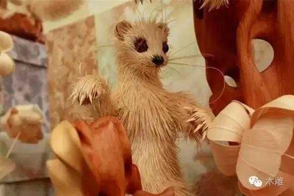 今天带你走进木雕动物世界