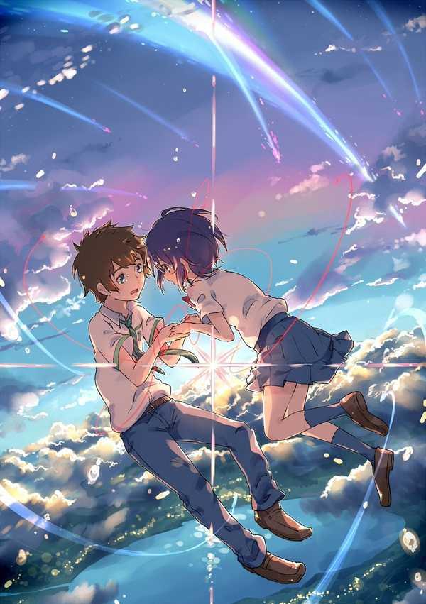 新海诚动漫电影新作,你的名字里三叶和泷的唯美爱情图