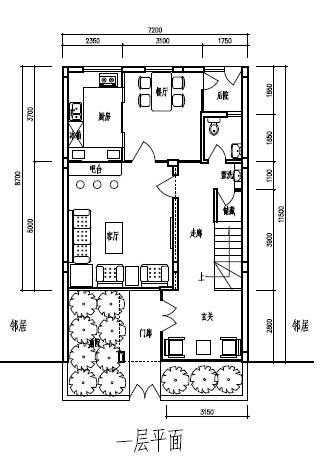 小面宽两层半小户型自建房别墅设计图纸—浙江绍兴别墅私宅设计