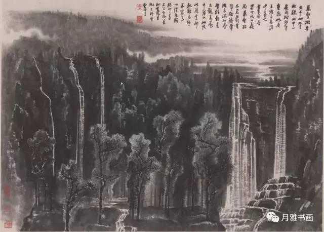 """山水画不是照片,也不是风景说明图,风景画要比自然更美,从来人们说""""河"""