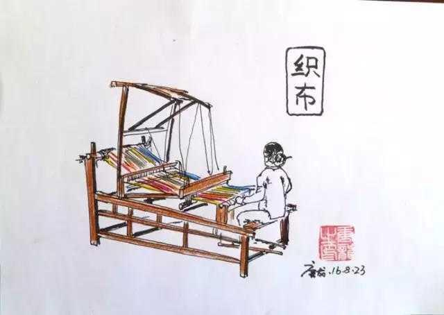 百里鸡犬静,千户机杼鸣——老式织布机.图片