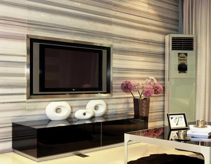 嵌入式电视背景墙,增容不止一点点图片