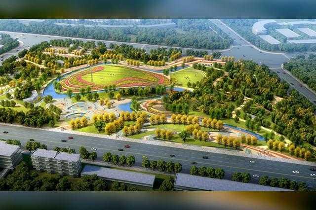 体育公园鸟瞰图.