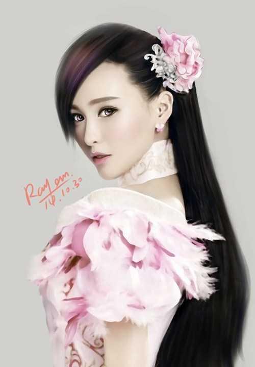 赵丽颖和唐嫣手绘图比美,一个美若天仙,一个像傻二姐!
