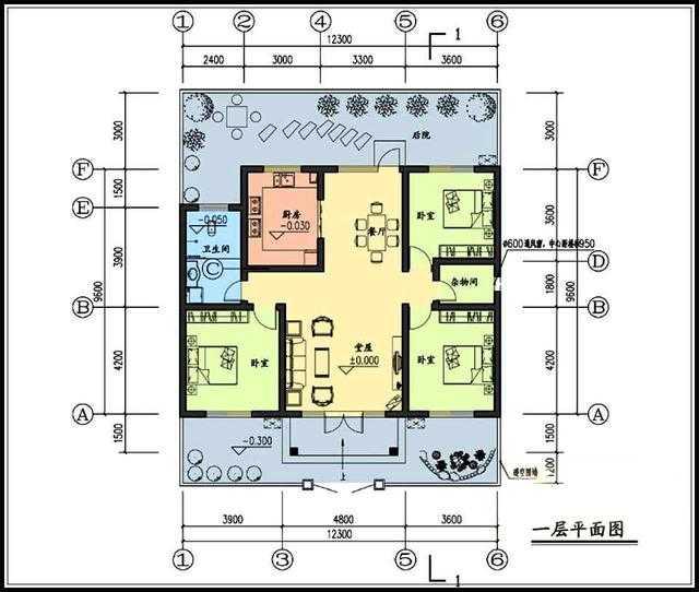 10万左右的一层农村平房设计图,户型周正2套方案