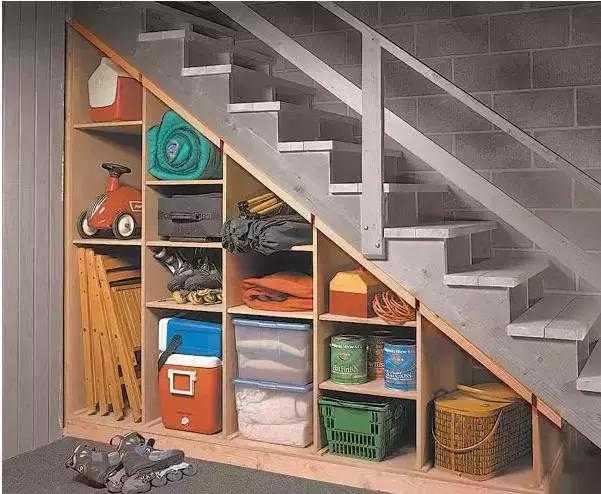 楼梯下的空间如何利用?不要就这么浪费了!