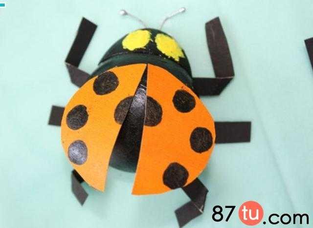 儿童手工自创的七星瓢虫制作详细图解教程
