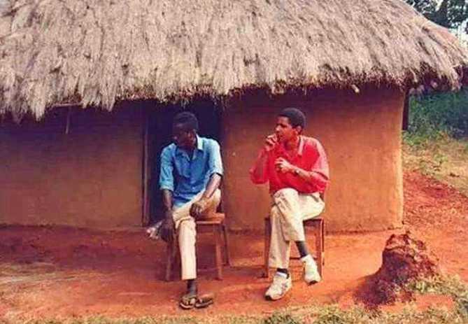 美国总统奥巴马两次回非洲老家照片对比:第一次很