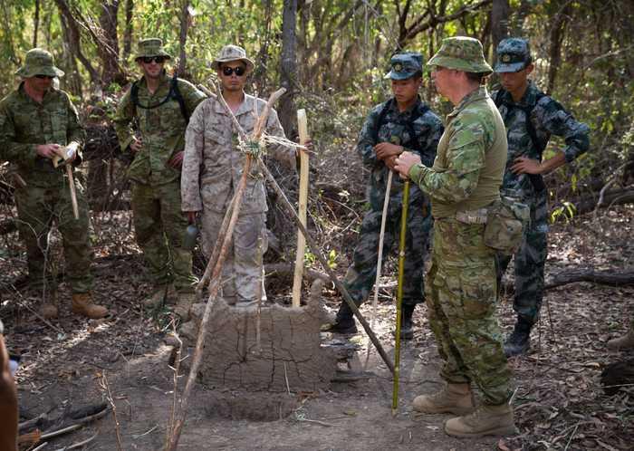 8月26日至2016年9月9日,中美澳三国军队在澳大利亚北领地的戴利里弗