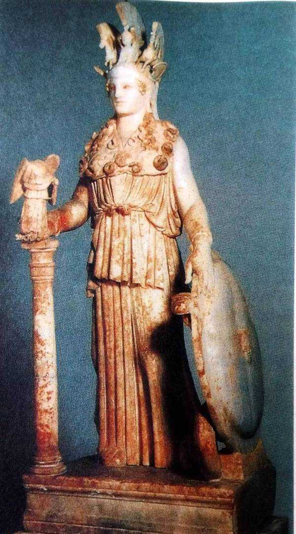 图2,古希腊雕塑家菲荻亚斯《雅典娜女神》